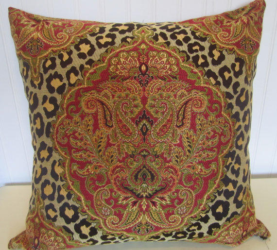 Woven Leopard And Paisley Decorative From