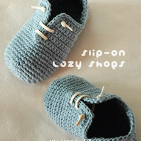 Slip-On Lazy Shoes Crochet PATTERN, Instant PDF Download - Chart & Written Pattern