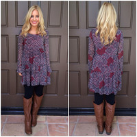 Pots of Paisley Tunic Babydoll Dress