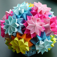 origami flower bouquet - Google Search