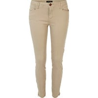 Cream zip hem skinny pants - pants - sale - women