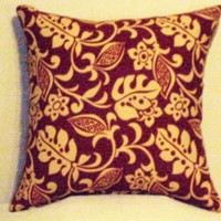 "Pillow Covers 16"" Set of Two- Red Floral Pattern"