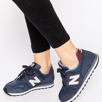 quality design 93aa0 f5b93 New Balance 373 Navy & Burgundy Suede Trainers
