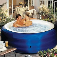 Spa2Go Inflatable 4 Person Hot Tub at Brookstone. Buy Now!