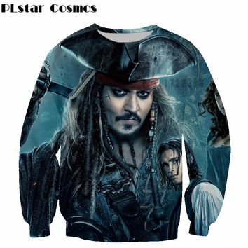 hot sale Pirates of the Caribbean 5 Fashion brand Sweatshirts Crewneck Outwear character Jack Sparrow 3d print casual Pullovers
