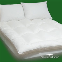 King Size 100-Percent Cotton Fiber Bed Mattress Pad Topper