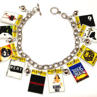 Theatre Playbill Charm Bracelet by KarinaMadeThis on Etsy