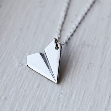 One Direction - PAPER AIRPLANE - Harry Styles Inspired Unisex Paper Airplane Necklace- Directioner 1D uk Boy Band
