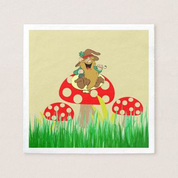 Mushrooms Paper Napkin