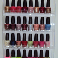 Nail Polish Wall Rack Acrylic hold up to 40 bottles
