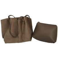 'Alma' Faux Suede Shopping Tote (3 Colors)