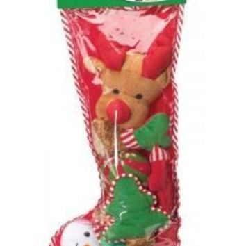 ICIKU7Q Ethical Holiday Filled Dog Stocking Xlarge 8Pc