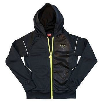 PUMA French Terry Tech Full-Zip Hoodie - Boys