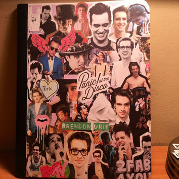 Panic! at the disco collage notebook