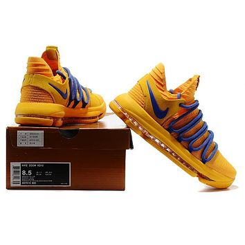 Beauty Ticks 2017 Nike Zoom Kd10  Kevin Durant ¢ª Warrior Yellow Basketball Shoes