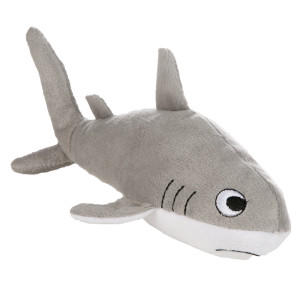 Grreat choice shark dog toy plush from pet smart for Life size shark plush