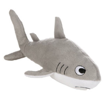 Grreat Choice™ Shark Dog Toy - Plush, Squeaker