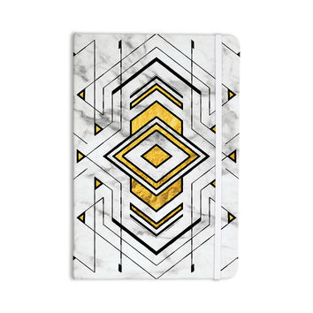 "KESS Original ""Geo Marble Graphic"" Gold Tribal Everything Notebook"