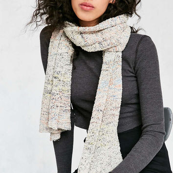 Space Dye Nubby Knit Scarf - Urban Outfitters