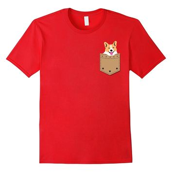 Corgi in Your Pocket Funny T Shirt for Pet Lovers