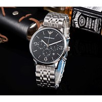 DCCK2 A0026 Armani Emporio Casual Waterproof Steel Watchand Watches Black