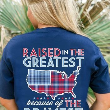 Jadelynn Brooke New Release Raised In The Greatest Because Of The Bravest - Short Sleeve