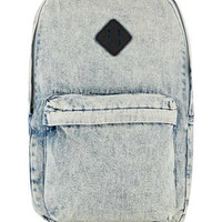 BLEACHED DENIM BACKPACK - New In