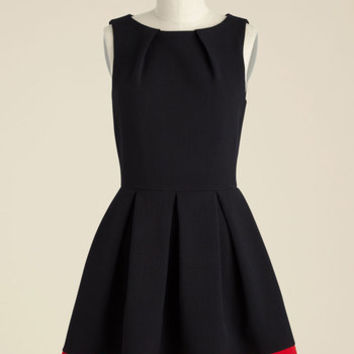 Luck Be a Lady A-Line Dress in Black & Red | Mod Retro Vintage Dresses | ModCloth.com