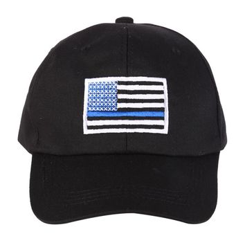 Outdoor sports mountaineering hat 5 color American flag thin blue embroidery riding running camping cap