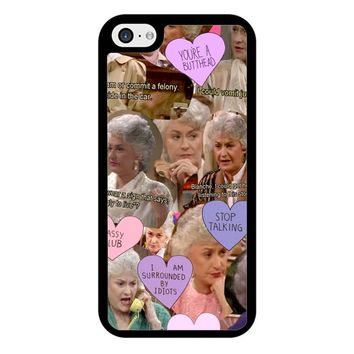 The Golden Girl Collage iPhone 5/5S/SE Case