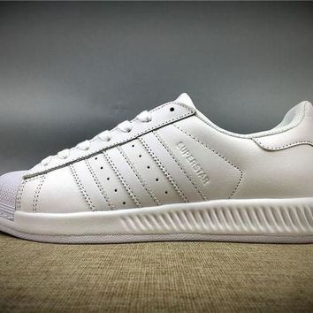 VON3TL 2017 Newest Adidas Originals Superstar All White Sneakers Classic Casual Shoes