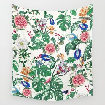 Surreal Garden II Wall Tapestry by RIZA PEKER