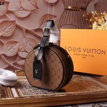 LV Louis Vuitton WOMEN'S MONOGRAM CANVAS PETITE BOITE CHAPEAU INCLINED SHOULDER BAG