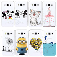 Minions Cat Mickey & Minnie Kiss Hard Case Cover For Samsung Galaxy S3 S4 S5 Mini S6 S7 Edge Note 2 3 4 5 A3 A5 A7 A8 J1 J5 J7