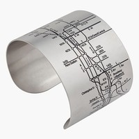Women's Designhype 'NYC Metro Subway Map' Cuff Bracelet