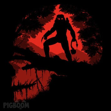 Jungle Hunter - Predator Yautja Skull Alien 80's Movie Unisex T-Shirt