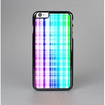 The Bright Rainbow Plaid Pattern Skin-Sert for the Apple iPhone 6 Skin-Sert Case