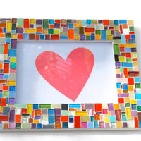 4 x 6 Rainbow Mosaic Picture Frame