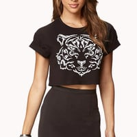 Abstract Tiger Cropped Tee