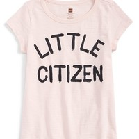 Girl's Tea Collection 'Little Citizen' Graphic Cotton T-Shirt,