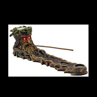Greenman Tree Incense Ash Catcher with Spooky Light-Up Red LED Eyes