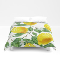 TROPICAL LEMON TREE Duvet Cover by digitaleffects