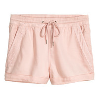 Short Lyocell Shorts - from H&M