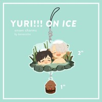 [PRE-ORDER] Yuri on Ice Onsen Charms by banacotta