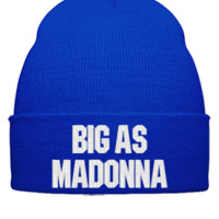 big ass Madonna  - Beanie Cuffed Knit Cap