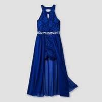 Girls' Lots of Love by Speechless Romper Gown - Royal Blue