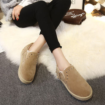 Shoes Winter Tassels Handcrafts Low-cut Cotton Boots [9432941706]