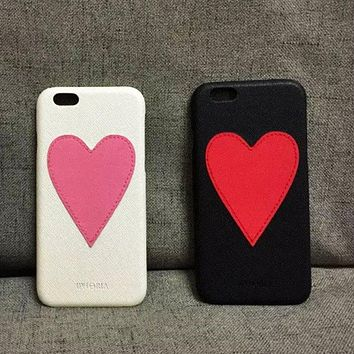 Large Pleather Heart Phone Case-iPhone