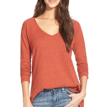 Sun & Shadow V-Neck Thermal Swing Top | Nordstrom