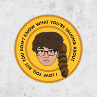 "Moonrise Kingdom sticker, Sam Shakusky ""I Love You But You Don't Know What Your Talking About"" wes anderson"